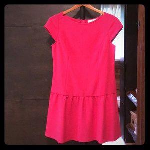 LOFT hot pink drop waist dress